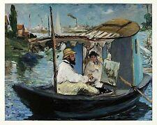 Edouard Manet Die Barke 1874 Poster Bild Kunstdruck 48x60cm