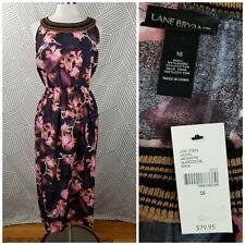 New LANE BRYANT Size 16 1X Floral Sleeveless Elastic Waist Maxi Dress Iris NWT