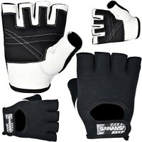 SAWANS® Gym Gloves Leather Workout Weight Lifting Fitness Training Cycling Grips