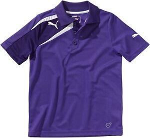 Puma Kinder Polo Spirit Shirt, équipe Violet / Parachute Violet / Blanc, 164