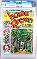 UNDERGROUND COMIX, HOME GROWN FUNNIES, CGC 9.6 1ST PRINT, R CRUMB