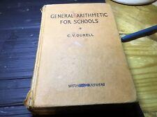 General Arithmatic For Schools C V Durell
