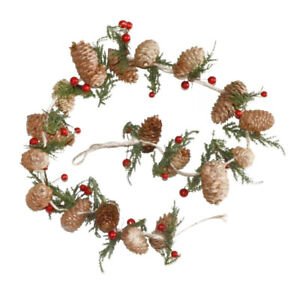1.2m Natural Pine Cone & Berry Artificial Christmas Floristry Garland