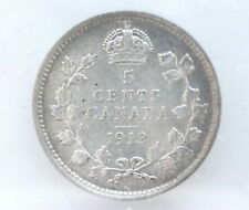 1913 George V 5 Cents Silver CAN • Grade VF-20