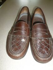 Bert Pulitzer Men's Casual Brown Slip-on Loafer Shoes Brown Leathet sz 9D