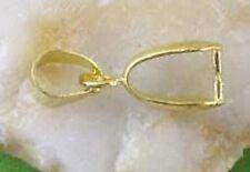10pcs Gold Plated Pendant Pinch Bails 15mm E617