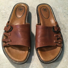 Ariat Womens 6.5M (36.5) Brown Leather Sandal Slides Style #21290
