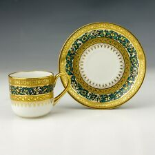 Mappin & Webb - Limoges China - Textured Gilt Decorated Cup & Saucer