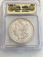 Rare 1885-O Ms65 U.S. Morgan Silver Dollar, Club Cal-Neva, See Other Morgans