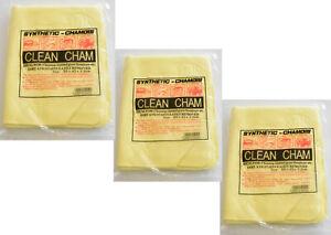 3 x Soft PVA Multi Purpose Magic Washing Cloth Cleaning Chamois  64 x 43 cm