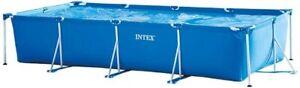 Intex 4.5m x 2.2m x 76cm Rectangular LARGE Framed Swimming Pool. NEW