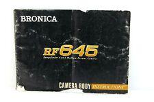 Bronica RF645 Camera Instructions. Original. In English