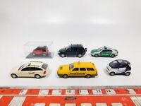 CG256-0,5# 6x Busch H0/1:87 PKW: Smart+Audi Polizei+MB Taxi+VW ADAC etc, NEUW