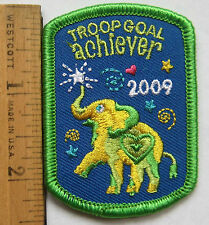 Girl Scout 2009 COOKIE SALES SUPER PATCH - TROOP GOAL ACHIEVER Cute Elephant NEW