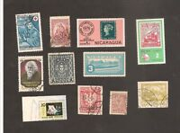 World Mixed Lot Stamps Interesting France, Nicaragua, Russia, Hungary