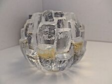 New in Box Kosta Boda igloo tea light by Bengt Edenfalk SWEDEN beautiful
