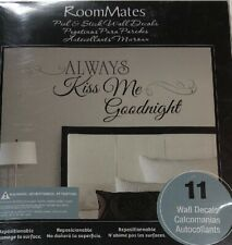RoomMates Family Wall Decals Always Kiss Me Goodnight 11 Removable Wall Decals
