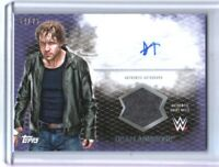 WWE Dean Ambrose 2015 Topps Undisputed Purple Autograph Relic Card SN 24 of 25