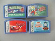 LeapFrog Leapster Lot of 4 Games Disney Pixar Cars Thomas Cosmic Math Reading