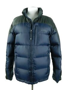NWOT Eddie Bauer Heavy Fill Premium Quality Goose Down Jacket Parka Blue Small