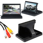 "5"" TFT LCD Monitor Car Rear View System Backup Reverse Camera Kit Night Vision"