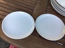 Jamie Oliver worcester white on white side kick tea plates x 2 diameter 19cm