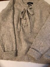 Zara Knit Oversized Sweater Frint Tie Size S