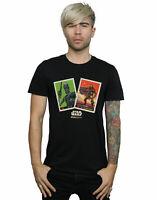 Star Wars Men's The Mandalorian Trading Cards T-Shirt