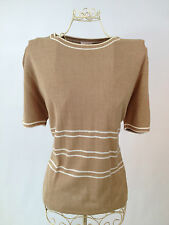 Short Sleeve Petite Striped Jumpers & Cardigans for Women