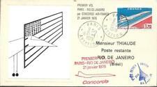 PA49+ FDC  ENVELOPPE 1er JOUR   CONCORDE  PARIS  RIO. PREMIER  VOL