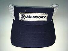 NEW Mercury Marine, Visor with Distressed Mercury Patch Logo, Navy/White