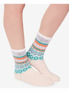 FREE PEOPLE Womens Pink Patterned Casual Crew Socks