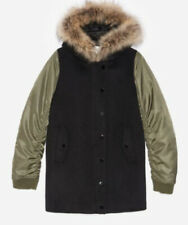 Apostrophe black parka/duffle coat with fur collar Coats, Jackets & Waistcoats Clothes, Shoes & Accessories