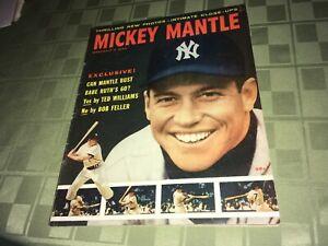 Mickey Mantle New York Yankees 1957 Pictorial Baseball Magazine WP