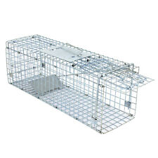 "Rabbit Bait Extra Large Rodent Cage Garden Live Animal Trap Raccoon 24""X8""X 7.5"""