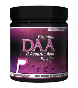 Premium Powders - D-Aspartic Acid Powder (DAA) (270g)