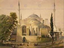 LANDSCAPE AYA SOFYA MOSQUE ISTANBUL ISLAM HAGHE NEW ART PRINT POSTER CC3645