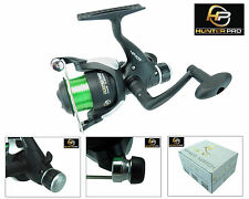 Carp Coarse Fishing Reel With Line Rear Drag Fixed Spool Hunter PRO HP40R