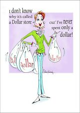 Funny Dollar Store Birthday Card for friend  Vanity Cases by Collene Kennedy