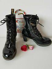 Dr Doc Martens Diva Darcie black patent heeled court boots UK 9 E 43 US 11