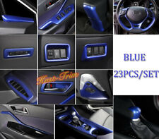 BLUE For Toyota C-HR CHR 2016-2019 ABS Interior Accessories Cover Trim Kit 23PCS
