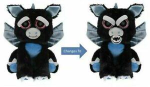 "Feisty Pets Black Dragon Plush 10"" Francisco Flamefart Squeeze Soft Toy Gift 6+"