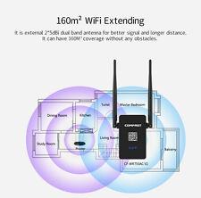 750Mbps 160m²  Wifi Verstärker Wireless AP Reichweite Signal Extender Repeater