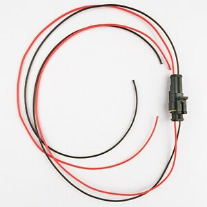 Waterproof 2 Way Pre-wired Electrical Superseal Connector with 1000mm of cable