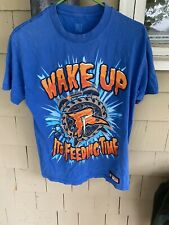 WWE AUTHENTIC WEAR - RYBACK WAKE UP ITS FEEDING TIME /FEED ME MORE T SHIRT / MED