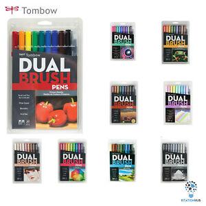 ORIGINAL Tombow Dual Nib Brush Pen | Arts Craft Lettering | Set of 10 Pens