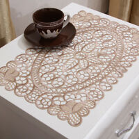 1/4pcs Embroidered Hollow Floral Placemat Table Cloth Cover Wedding Party Decor