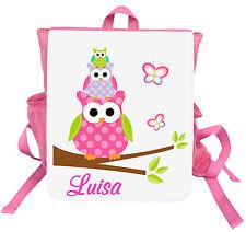 Kinder Rucksack Eule 2 mit Name Kindergartentasche Kindergartenrucksack Tasche