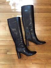 CHLOÉ Designer Knee-High Heeled Leather Boots