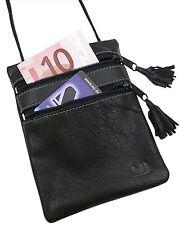Vera Pelle di Bufalo petto sacchetto tasca interna petto Borsa Borsa Nero